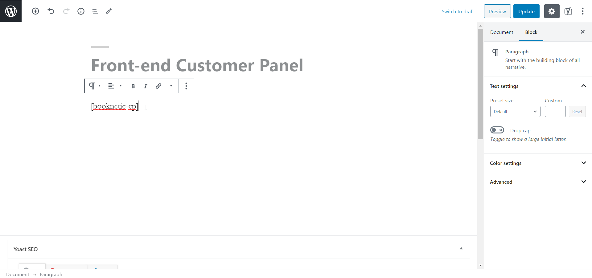 Front-end Customer Panel in the Booknetic - WordPress Appointment Booking and Scheduling system