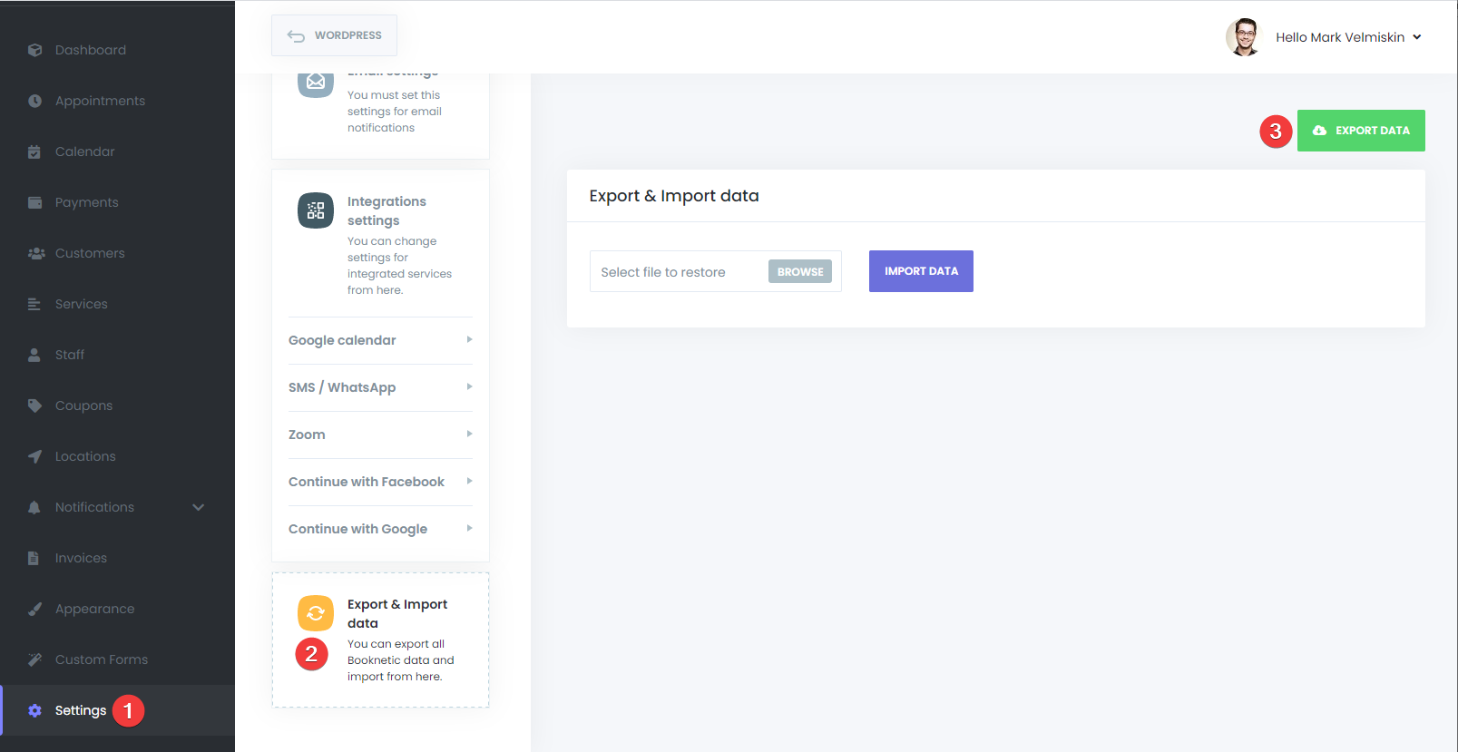 Updating Booknetic. Multi-purpose Appointment Booking Plugin For WordPress.